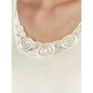 Hemd korte mouwen (kant) White