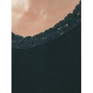 Hemd met kant korte mouw Black