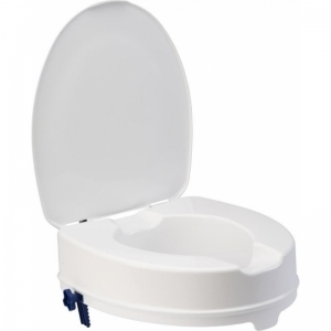 Toiletverhoger met deksel logo