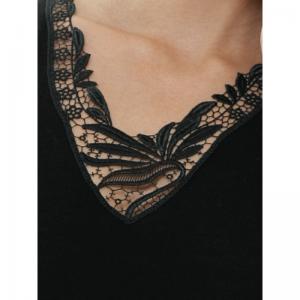 Hemd zonder mouwen (kant) Black